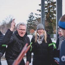 Schnitzeljagd im Schnee Teambuilding
